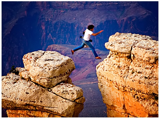 Grand Canyon leap and the subjectivity of risk