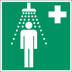 Safety shower layout
