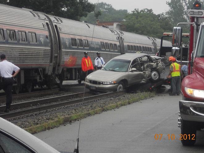 Safety Moment Amtrak train hits car