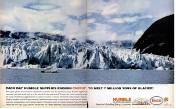 Humble Oil glacier melting