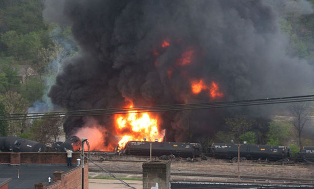 Lynchburg train derailment and fire