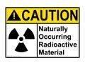 NORM — Naturally Occurring Radioactive Material sign